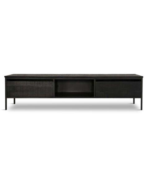 tv-meubel zwart hout