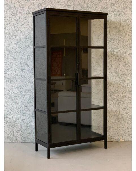 WOZO - Industriële Glas Kast - Zwart