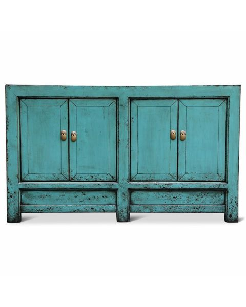 Houten Oriëntaals Dressoir Turquoise