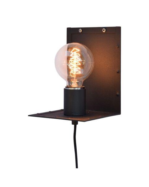 Industriële Wandlamp Hook Vintage Black