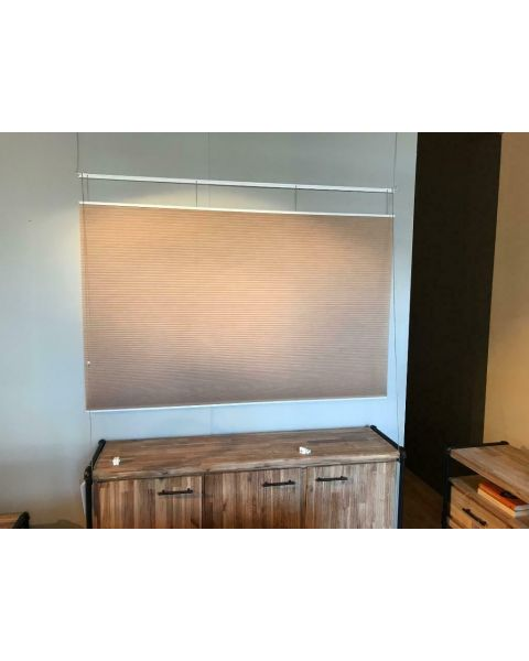 Duettes beige-zalm 3 stuks raamdecoratie plisse