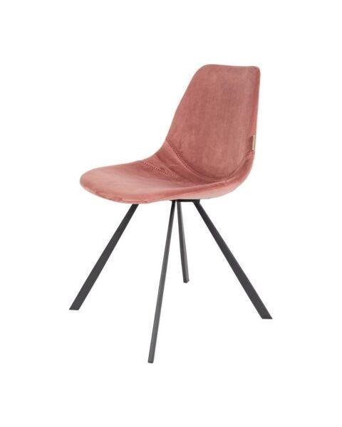 stoel velvet roze