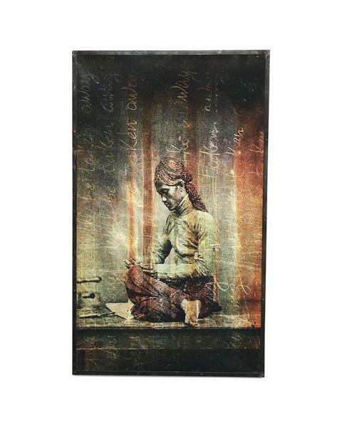 Kunstwerk Bali Woman Groot