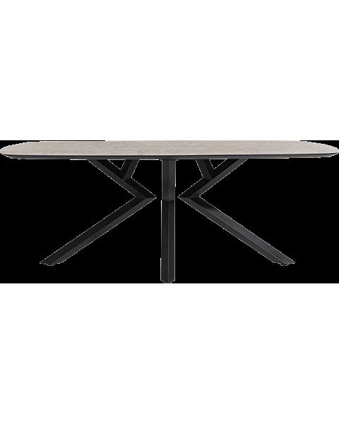XOOON Eetkamertafel Masura Ovaal 200cm Roest