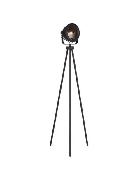LABEL51 Vloerlamp Tuk-Tuk Zwart Metaal