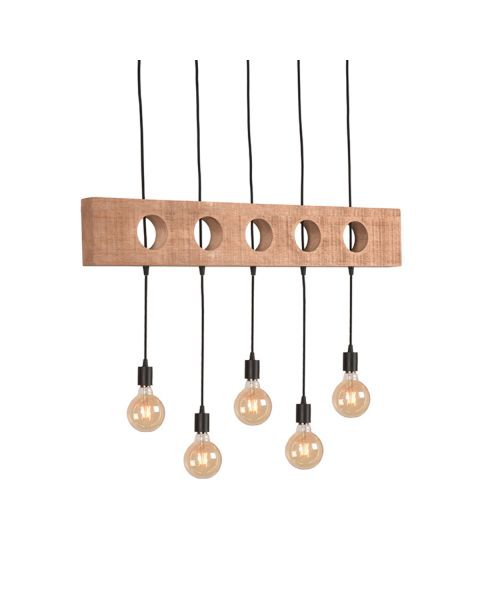 LABEL51 Hanglamp Timber Rough Mangohout