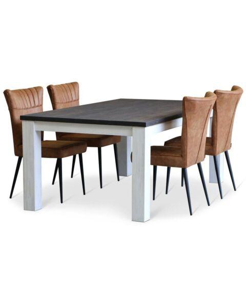 Moderne Eetkamertafel Springfield Massief hout
