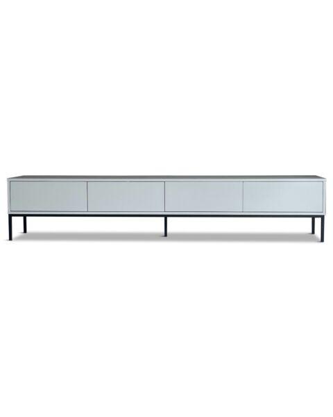 modern tv dressoir eiken fineer grijs
