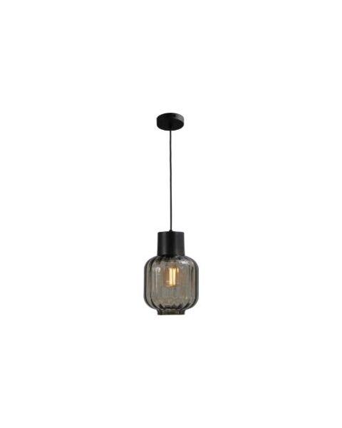 hanglamp lett rib zwart 20cm