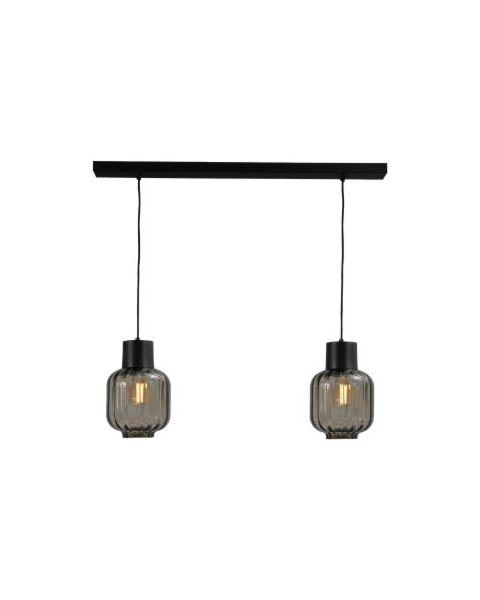 hanglamp lett rib zwart