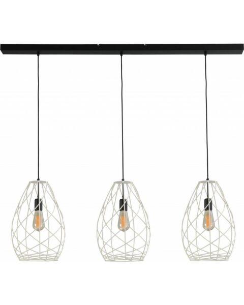 drielichts hanglamp wit