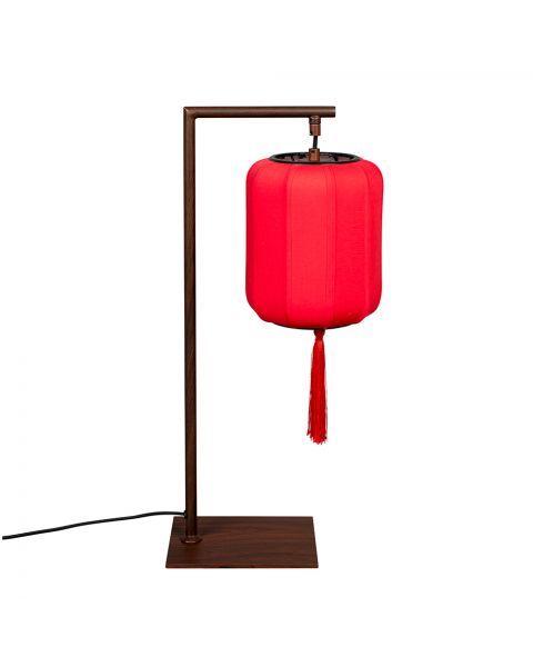 dutchbone tafellamp suoni rood