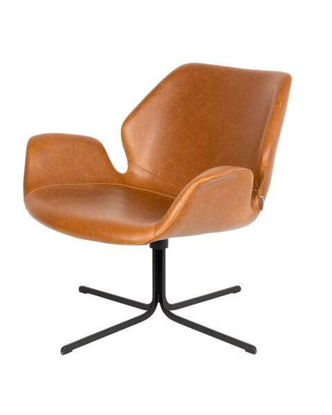 lounge fauteuil bruin