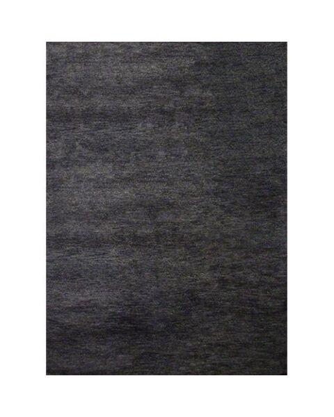 Ghabbeh Plain Black Tapijt