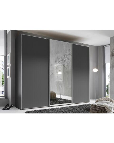 Kledingkast Zwart met Spiegel