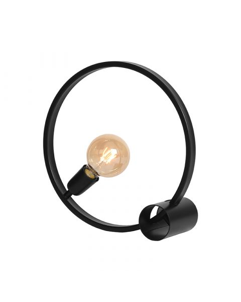 LABEL51 Tafellamp Ring Zwart Metaal