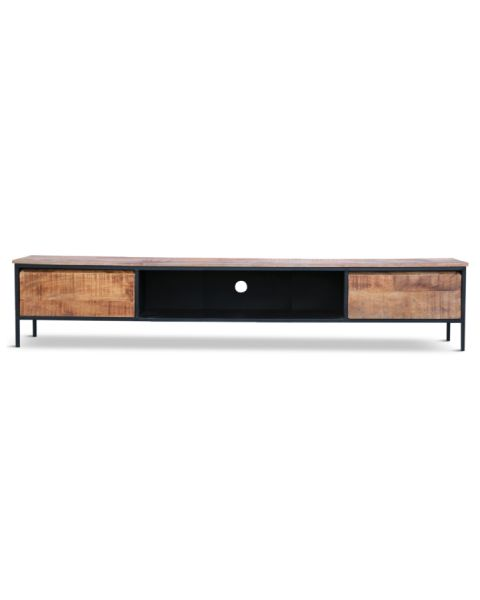 TV-meubel York Mangohout 240cm Breed Tussenvak
