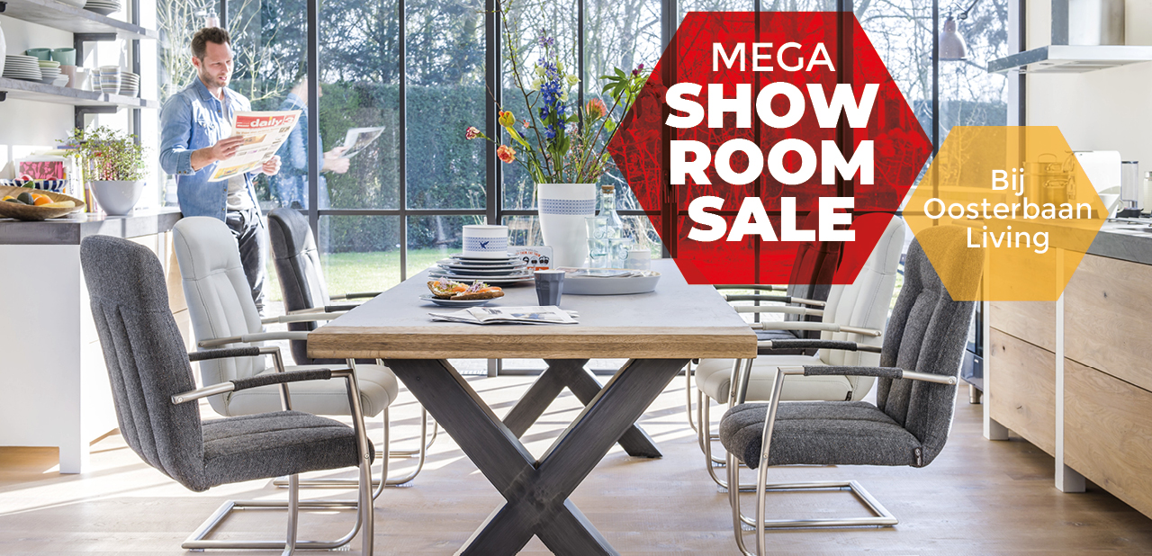 Mega Showroomsale bij Oosterbaan Living Acties
